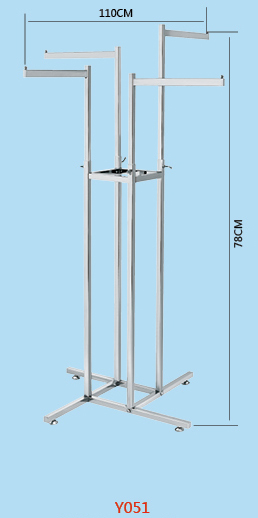 Factory unique designed stand Feature and Supermarket Use metal clothes rack