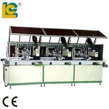 High effeciency Automatic three-color Cylinder direct to garment UV Screen Printing machine LCB-120UV-3