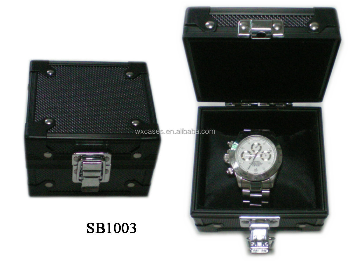 luxury aluminum single watch box wholesales from China manufacturer