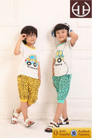 2015 New Kids Casual Walking Dress Odile Cotton Cars Spots Printed Childrens Clothes