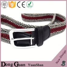 2016 hot sale ladies fashion plaited leather belts belt with automatic buckle custom embroidered
