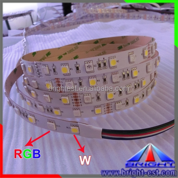 Hot Sell Special 2 Mixed Color 5050 RGB+W LED Strip, Smd Led Strip Flexible PCB 5050, RGB+CW LED Strip 5050