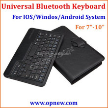 Tablet PC Universal bluetooth keyboard Buckle leather case suit for Android Windos IOS system bluetooth 3.0