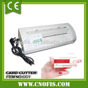 Electric paper card cutter