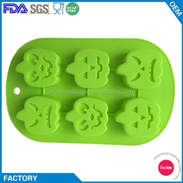 Funny Festival 3D Silicone Halloween Pumpkin Chocolate Mold