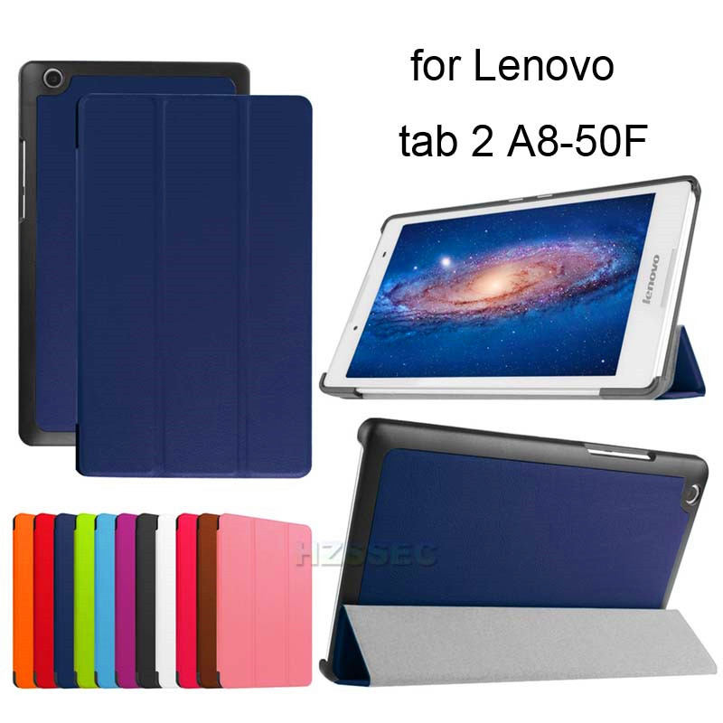 Hot Selling Top Quality Folio Leather Case Smart 8 Inch Tablet Cover For Lenovo Tab 2 A8-50