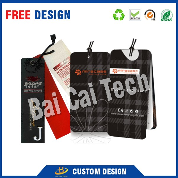Customize high quality kraft paper hang tag for clothing