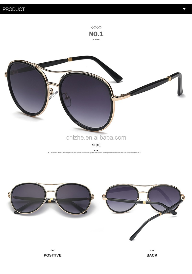 2017 Personality metal classic vintage japan sunglasses for women