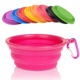 350 ml Portable Foldable Silicone Travel Collapsible Pet Dog Water Bowls