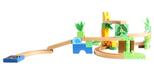 Educational children wooden alphabet train set toys