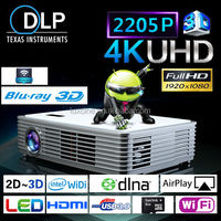 DLP Style and Yes Portable 3D LED Projector / 4K Ultra HD Projector / Mini 3D Hologram Projector
