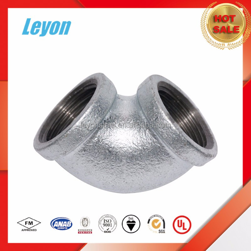 h.d galvanized equal elbow malleable iron pipe fitting
