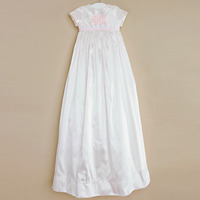 Christening Baptism Dress Baby Girls Long Appliques Holy Frocks Embroidered Gowns for Infant Girls 0-2 Years