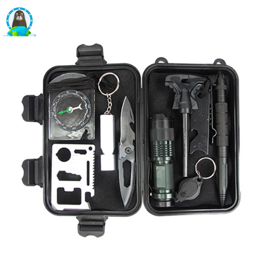 Travel outdoor equipment survival treasure box survival tool <strong>set</strong>