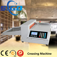 Semi automatic electric creasing machine used