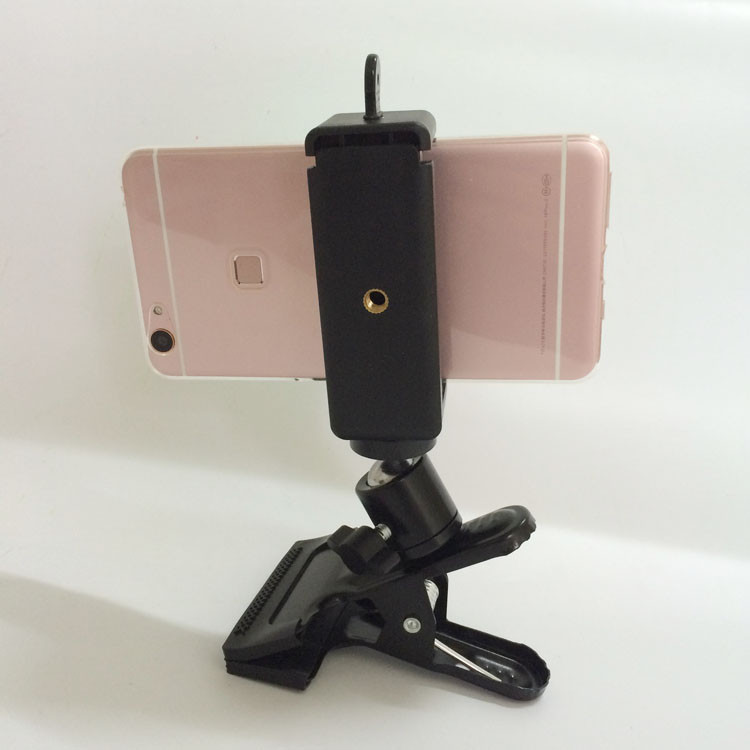 77-115mm Extendable Big Screen Mobile Phone Wall Bed Desk Sofa Tripod Selfie Monopod Stable Clip mount Cradle for iPhone6s plus