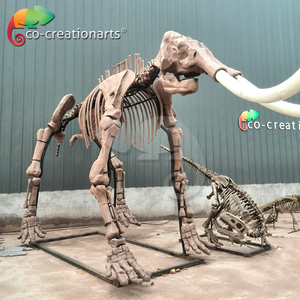 High simulation artificial mammoth replica animal skeleton