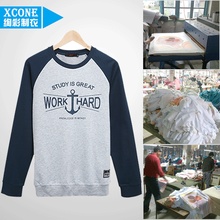 custom long sleeve tshirts clothing garment factory in china Cheap Advertising Design Clothes