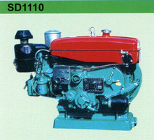 Horizontal, water cooled type diesel engine SD1110