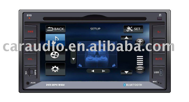 6.2 inch touch screen CAR DVD PLAYER with GPS/BLUETOOTH/DVD/VCD/CD/MP4/MP3