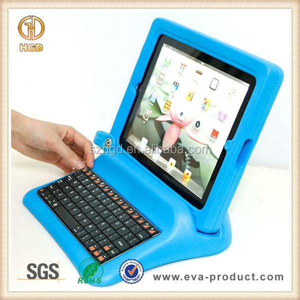 Hot Selling Children Friendly Blue Color for iPad Case with Keyboard