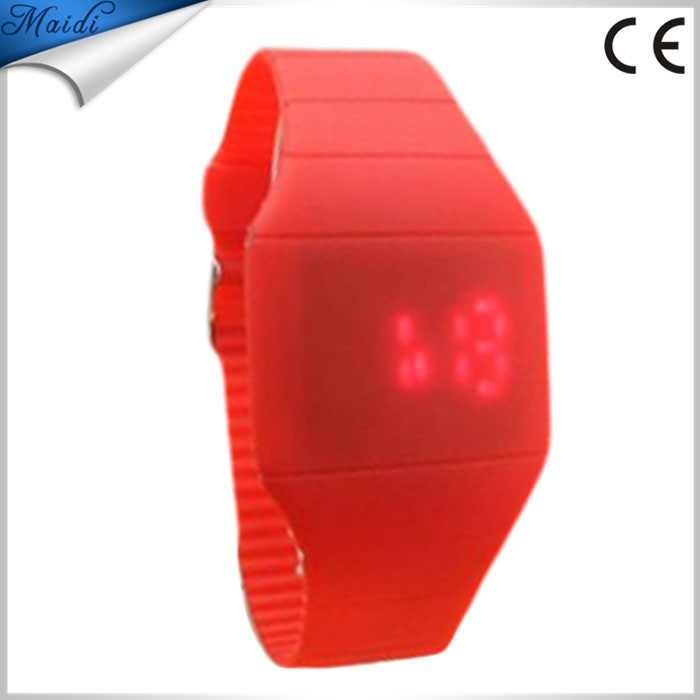 11 colors Girls and Boys Student Storm New Touch Screen LED Digital Clock Colorful Silicone Women Fitness Sports Watches LMW-2