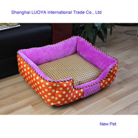 Alibaba china hot-sale dotted pet bed indoor purple dots pet dog pillow bed