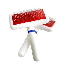 RoblionPet Wholesale Stainless Steel Plastic Self Clean Master Pet Dog Cat Hair Grooming Deshedding Tool Comb And Brush