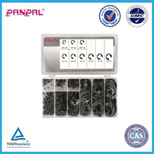 BSCI Approved china factory Factory Price Hot Sale 300PC E-Clips E Rings E Circlips