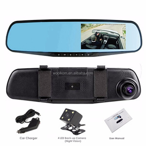 4.3'' TFT LCD Display 1920*1080P/30fps 140 Degree 1080P Vehicle Blackbox Car DVR Car Rearview Mirror