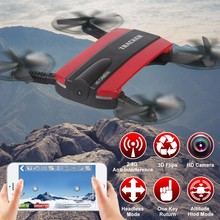 New arrival JXD 523 Tracker Foldable Mini Rc Selfie Drone with Wifi FPV 720P HD Camera Altitude Hold&Headless Mode VS JJRC H37