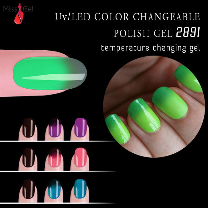 small fast selling items changing color gel polish nail uv gel