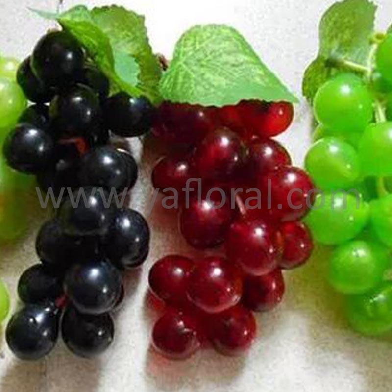 Yafloral artificial grape fake fruits from other countries colour fruits and vegetables