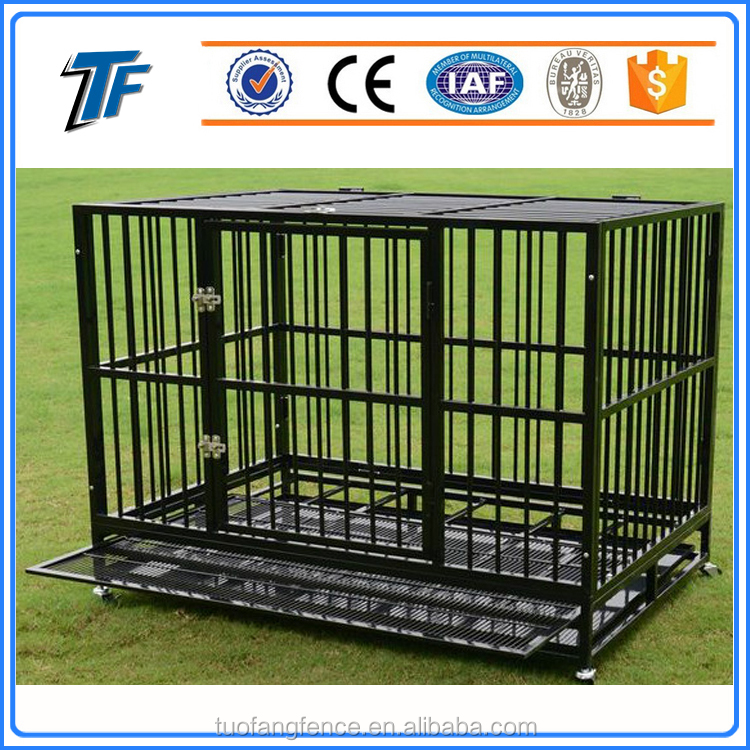 2017 Hot sale ISO 9001 welded wire steel cheap dog kennels