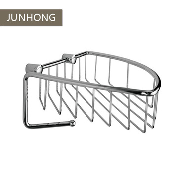 Wall mounted bathroom wire basket with hanging hook for towel