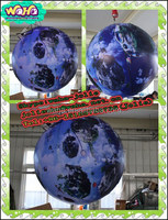 Hanging club decoration inflatable planet with lighting (1M/Customized)