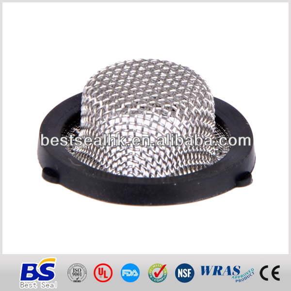 FDA grade stainless steel rubber washer filter screen