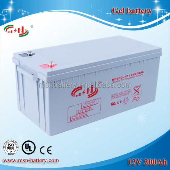 Best Deep Cycle Solar Panel GEL Battery 12V 200Ah for Solar System Power Storage Battery