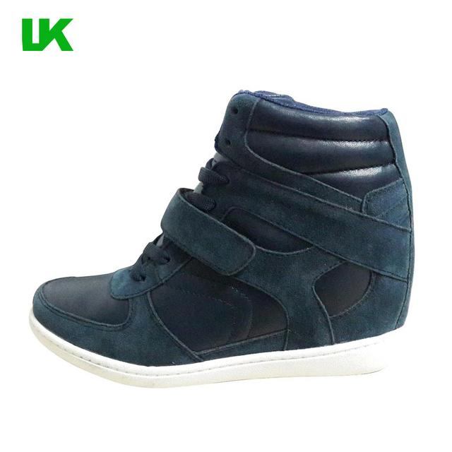 2017 Korea new style wedge heel women's sneakers
