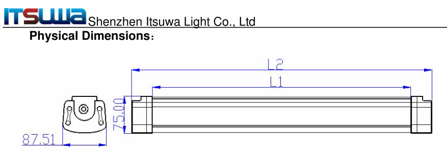 Ip65 Tri Proof Led Tube Light Vapor Proof Led Light Fixture,Tri ...