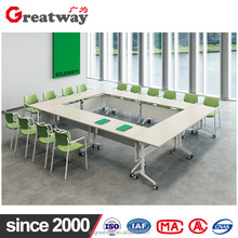 Clean looking combined target folding study table for meeting room