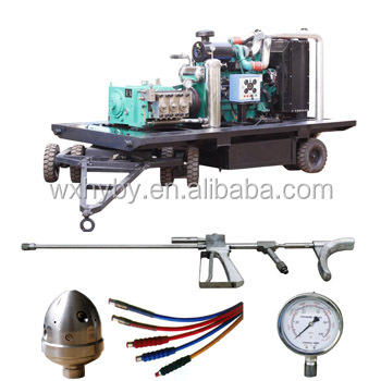 Industrial use high pressure water jetting cleaning machine