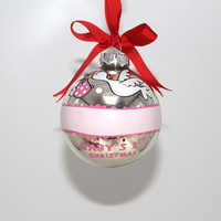 High Quality Silver Shiny Christmas Ornaments Hanging Hand Painted Glass Christmas Ball