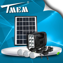 Dc solar home system 5w solar light kit with 4ah battery solar camping lighting system