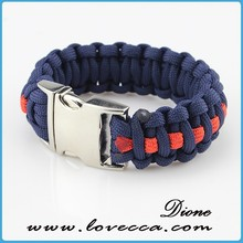 small MOQ+cheap price factory directly sales survival paracord bracelet