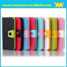 For blackberry Q10 case,colorful cute leather flip wallet case for blackberry Q10
