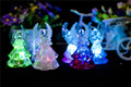 artificial acrylic LED changing color flash christmas angel for Christmas promotion gift