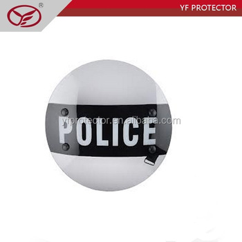 Transparent diameter 530 mm polycarbonate police and military riot protective round Shield