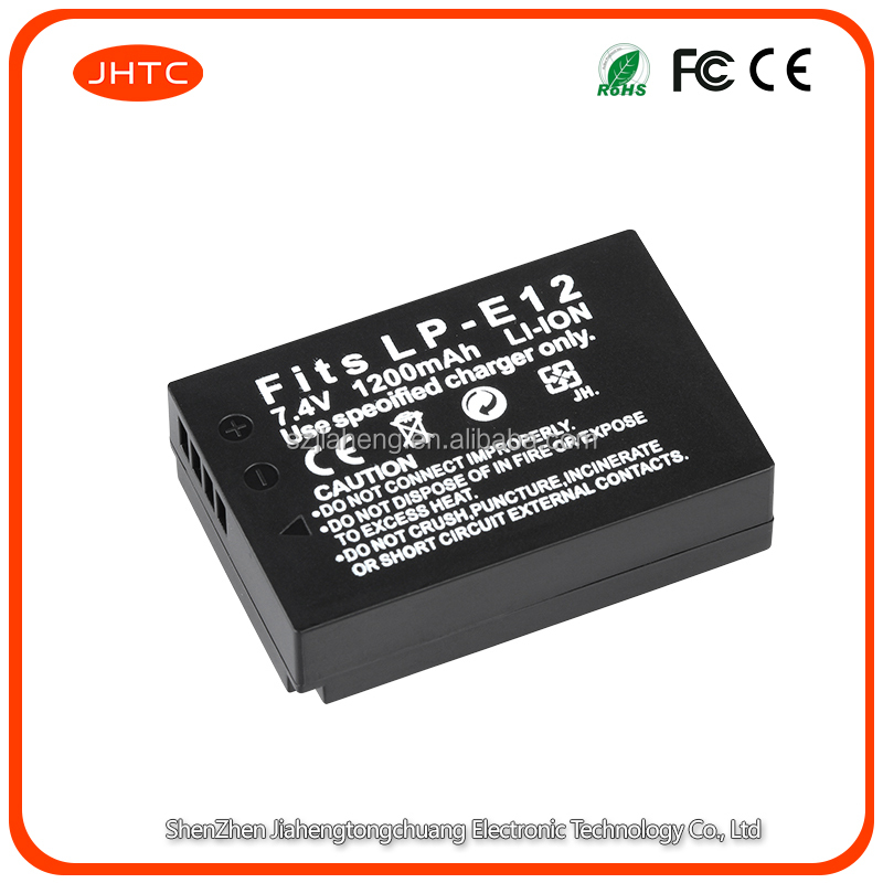 Durable spare 1000mAh LP-E12 rechargeable <strong>battery</strong> fit for EOS M, M2, <strong>M10</strong>,100D cameras 7.2V