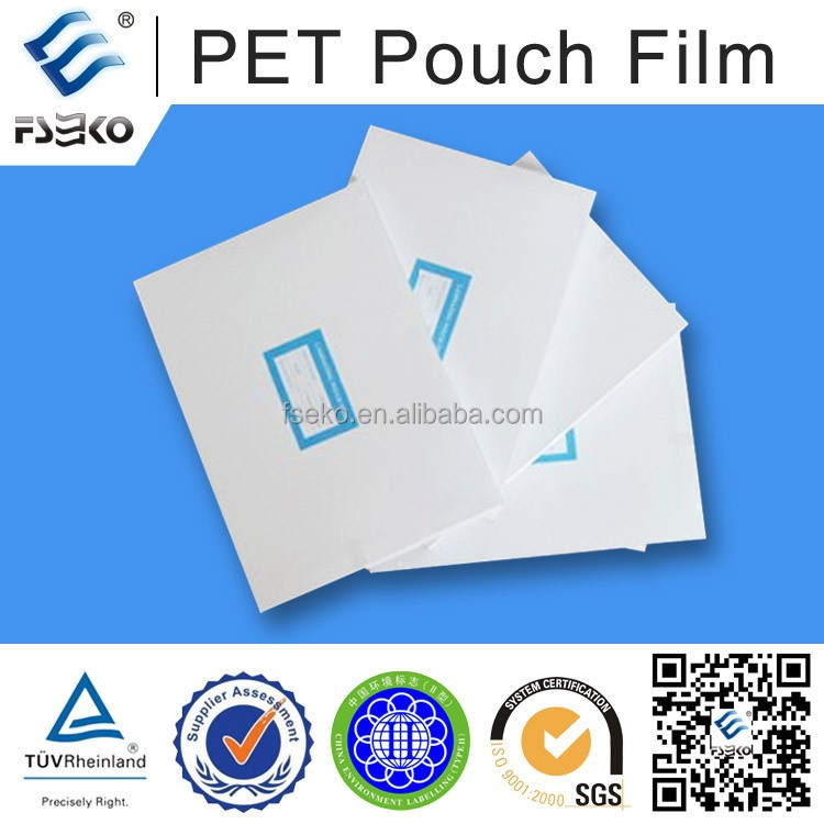 PET lamination roll or pouch film paper